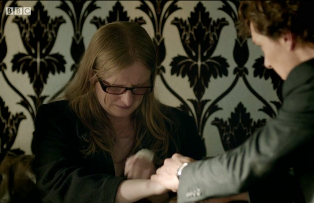 Elizabeth Coyle as Miss Sutherland - Sherlock